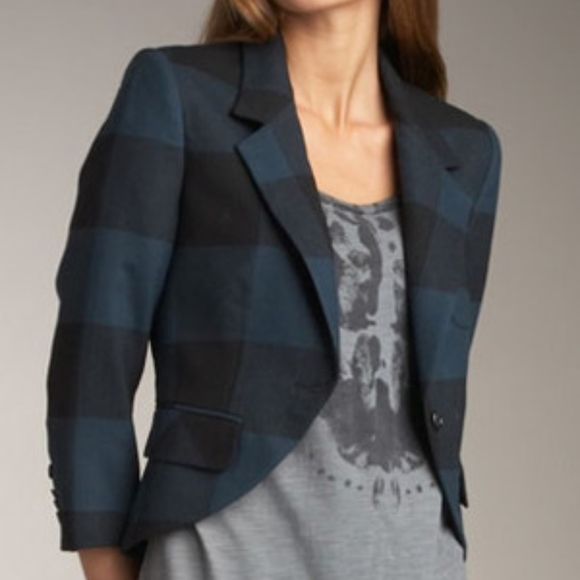 Elizabeth and James Jackets & Blazers - Elizabeth And James Ivy Blazer Blue Buffalo Plaid